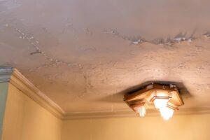 مشكلة تسرب المياه من السقف